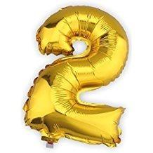 globos numeros dorado y plateado 70cm - no requieren helio