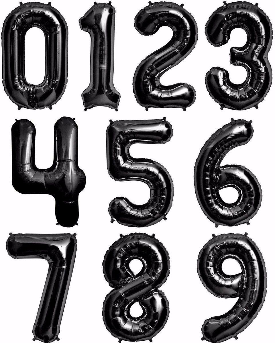 Globos Números Metálicos 82 Cms Aprox Color Negro - $ 140.00 en ...
