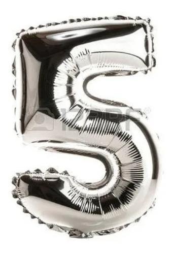 globos numeros metalizados ! 80 cm de altura.