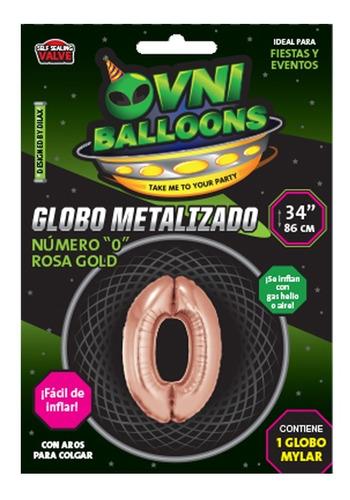 globos números metalizados rosa gold 34 pulgadas x 1 - cc