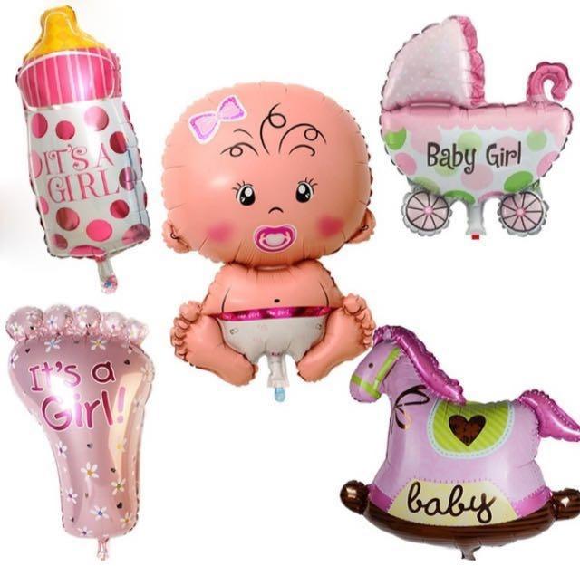 Globos Para Baby Shower. Set X 5.