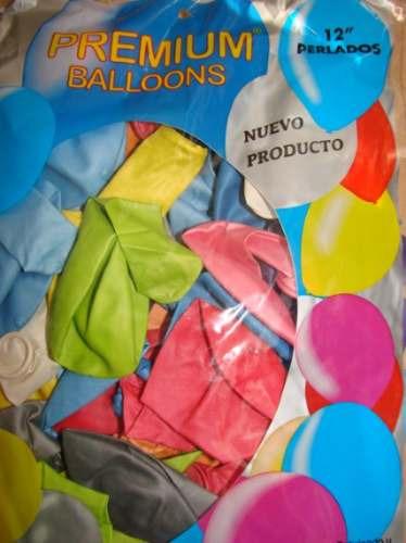 globos perlados 12 pulgadas  x 50 unidades
