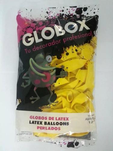 globos perlados 12 x 50 unidades calidad helio decoración