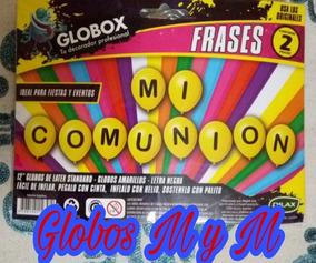 Globos Perlados Frase Impresa Mi Comunión X2 Ramos Mejía