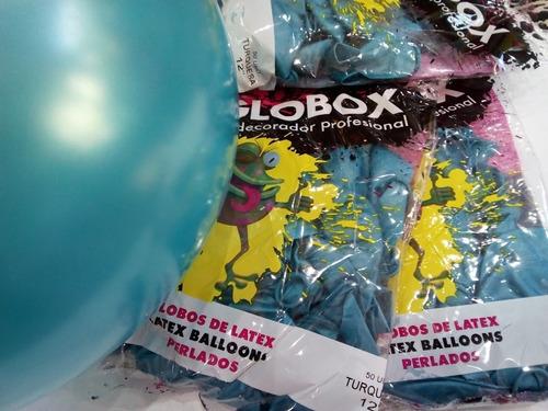 globos perlados latex globox por 50 unidades