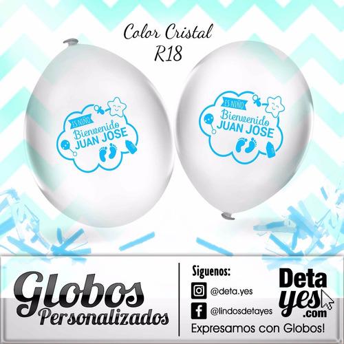 globos personalizados r18 transparentes x 3 unds