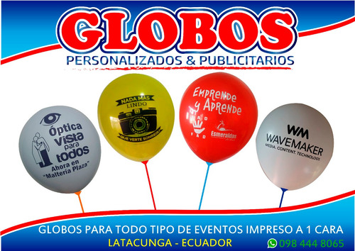 globos personalizados y publicitarios - globos impresos