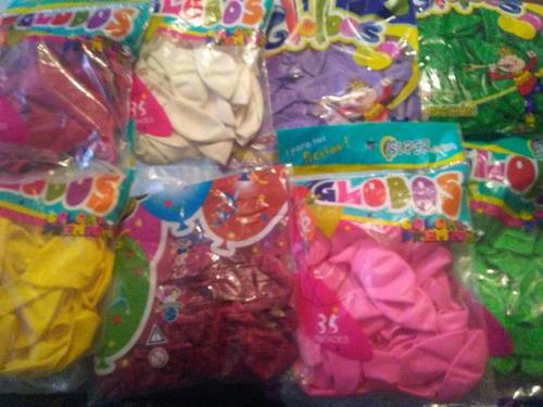 globos por paquete