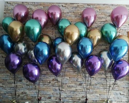 globos qualatex chrome r11, cromado. al mayor y detal