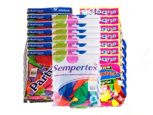 globos r -12 paquete x 50 unidades compra mínima 20 paquetes