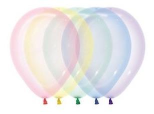 globos  r12 50 unidades cristal pastel