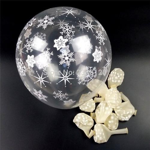 globos r12 hielo copo nieve  paquete x 5