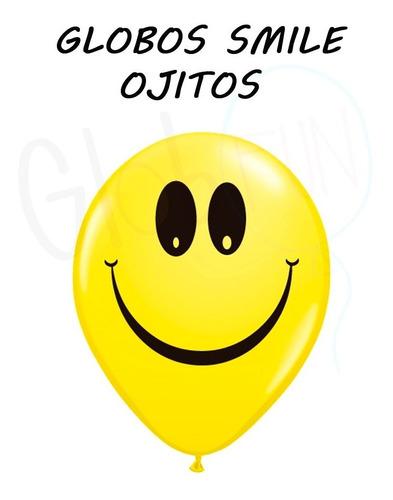 globos smile ojitos x 10 unid. multicolor oferta globo fun!
