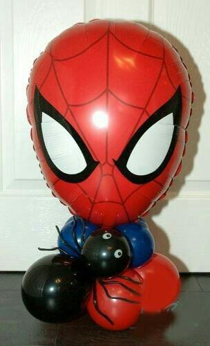 globos super heroes capitán america   spiderman, hulk,