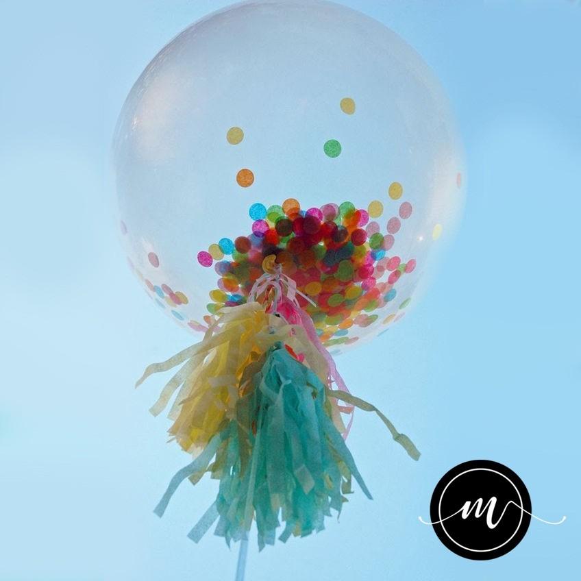 globos transparentes 12 con confetti colores dorado y plata