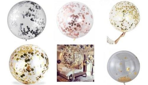 globos transparentes para englobar tipo burbujas 18 pulg 3un