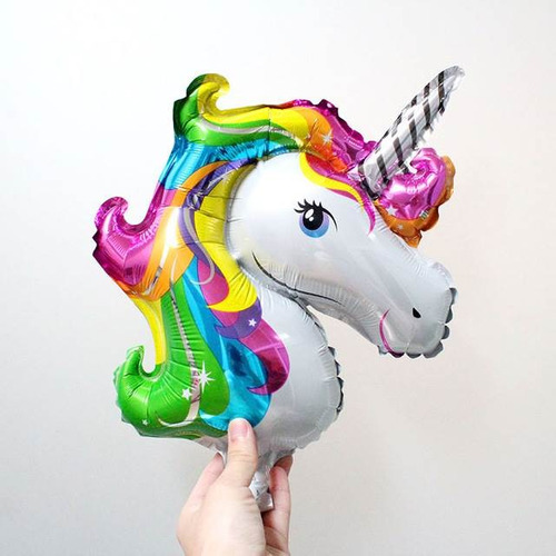 globos unicornio 22cm mayor y detal