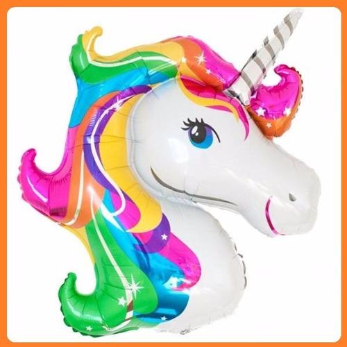 globos unicornio arco iris 55cm - no requiere helio