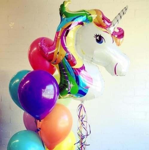 globos unicornio metalizados !!  67 cm x 45 cm