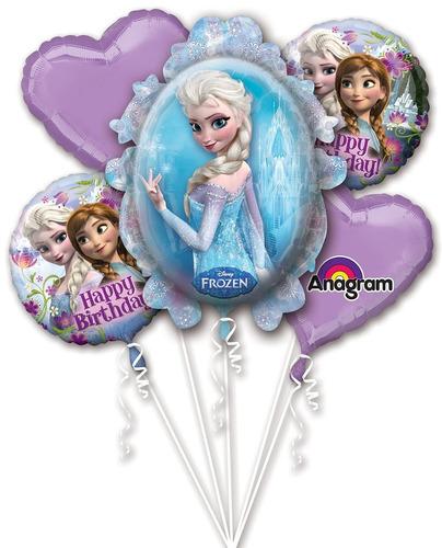 globos x 5  frozen  elsa y anna a1009 - a0622