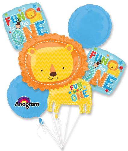 globos x 5 fun to be one niño  leon  a1010