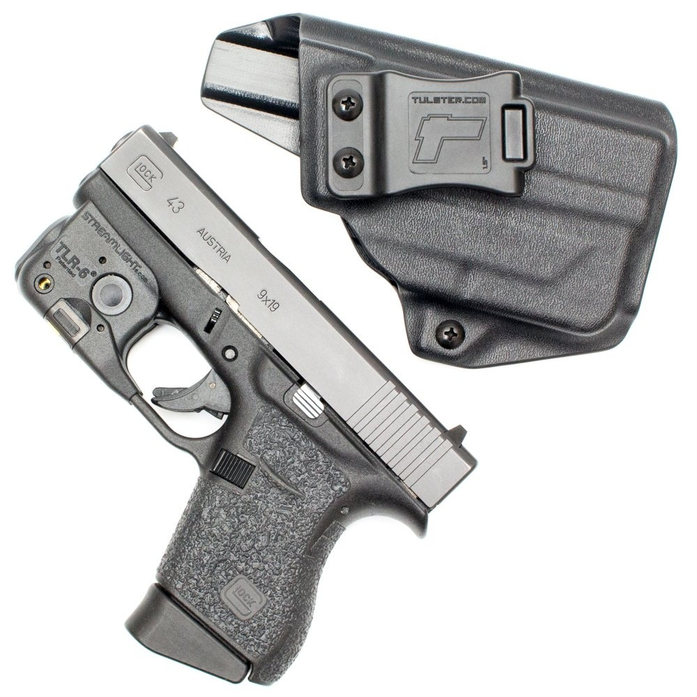 Glock 43 W / Tlr-6 Holster - Tulster Iwb Profile Holster -
