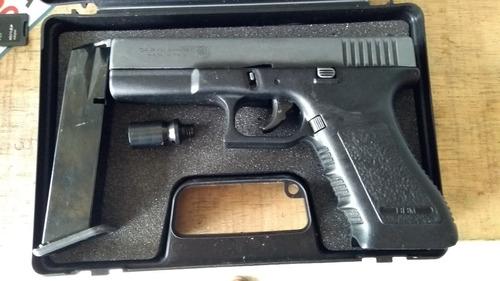 glock 9mm salvas y balas caucho policial gir goe