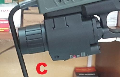glock skin tactico linterna corredera 17 22 laser