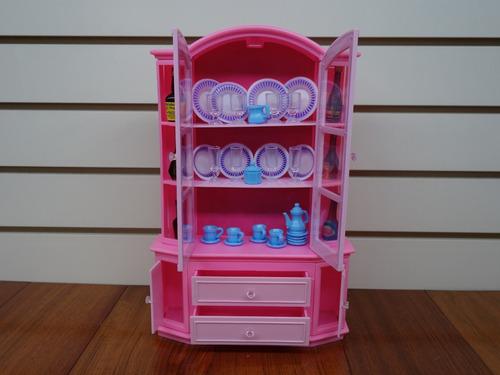 gloria buffet & hutch set, barbie muñeca