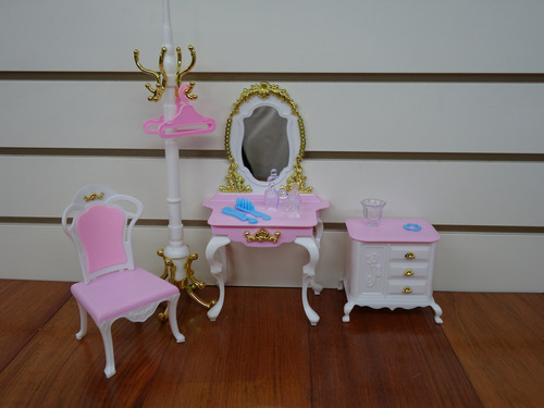 gloria dressing room pretty set para muebles de muñeca
