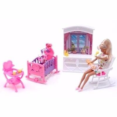 Gloria El Cuarto Del Bebe Muñecas Barbie Muebles - $ 590,00 en ...