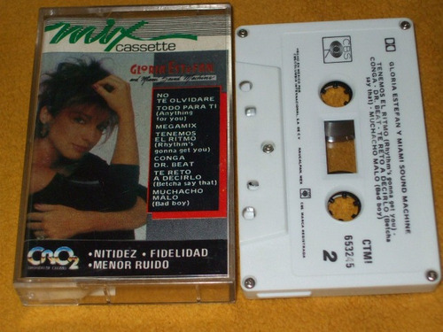 gloria estefan cassette mix miami sound machine cromo