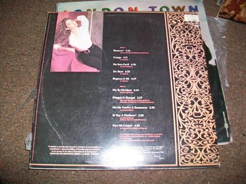 gloria estefan, linda música antigua en disco de acetato