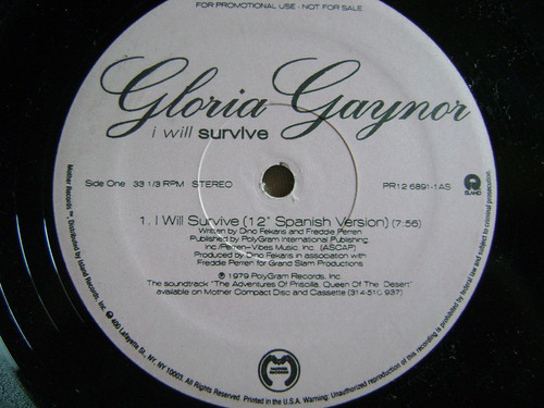 gloria gaynor - i will  survive - español - 12 version