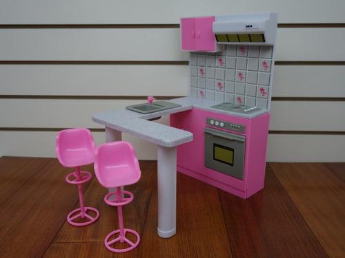 gloria kitchen play set para muñecas barbie y casa de
