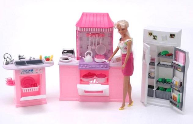 Gloria la cocina con accesorios para muñecas barbie    538,00 en ...