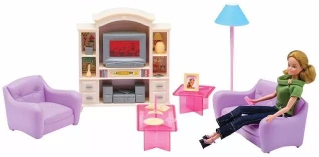 Gloria La Sala De Estar De Muebles Para Muñecas Barbie Smile - $ 683 ...