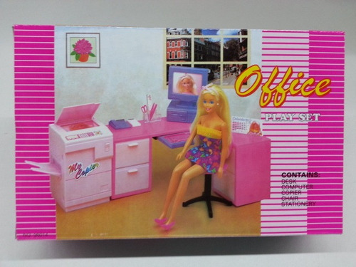 gloria office play set para muñecas barbie