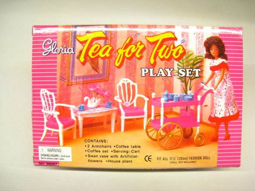 gloria tea for two play set for dolls furniture