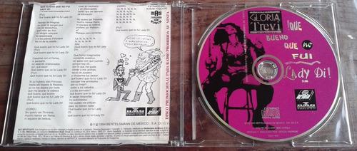gloria trevi que bueno que no fui lady di cd promo 1994