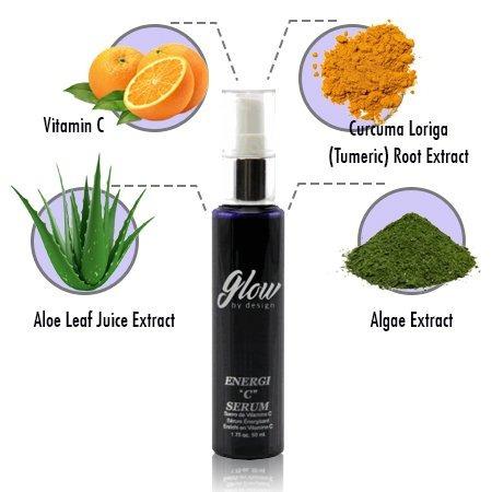 glow energi c serum para cara y cuello, sin parabenos, anti