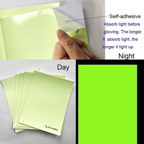 glow in the dark sticker a paper pcs a pack selfadhesiv...