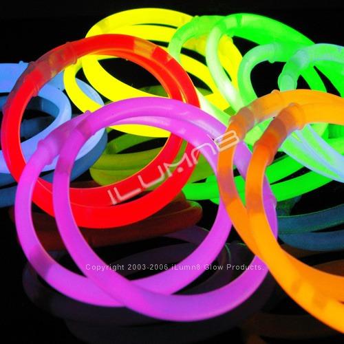 glow pak 5 pulseras fluo disfraces fiestas alice sale new !