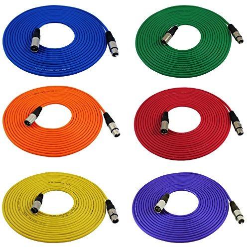 gls audio 25ft cable de micrófono cables xlr macho a xlr he