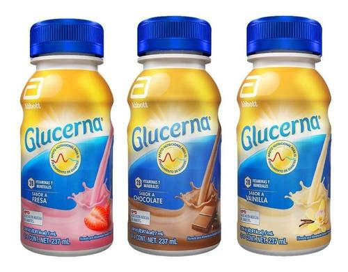 glucerna liquido vainilla, fresa. chocolate pague 6 lleve 8