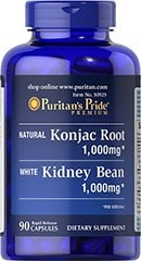 glucomannan konjac root white kidney bean 90 caps 1000mg