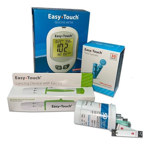 glucómetro digital easytouch y accesorios- easy touch