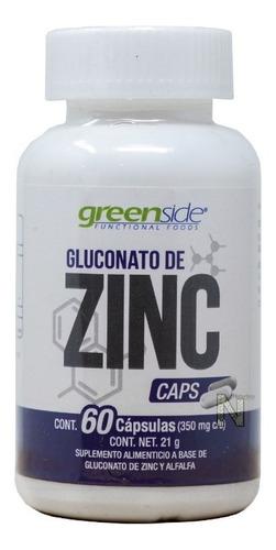 gluconato de zinc (60 caps) greenside