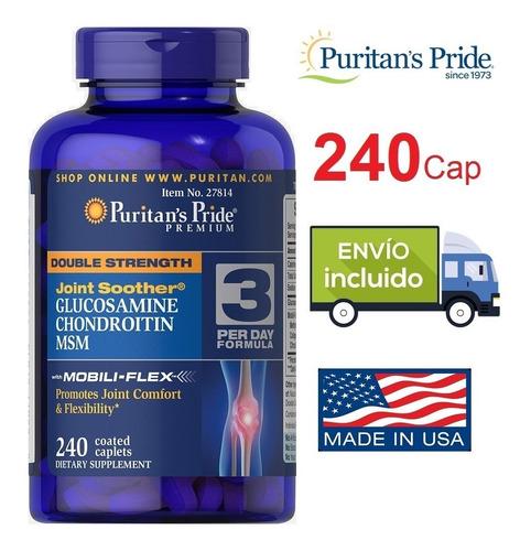 glucosamina chondroitin msm colageno 240 cap + envio gratis