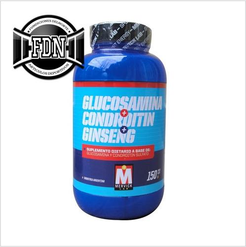 glucosamina + condroitin + ginseng 150grs mervick